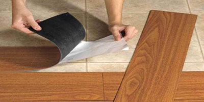 لمینیت برچسبی (Pre–glued laminate flooring)
